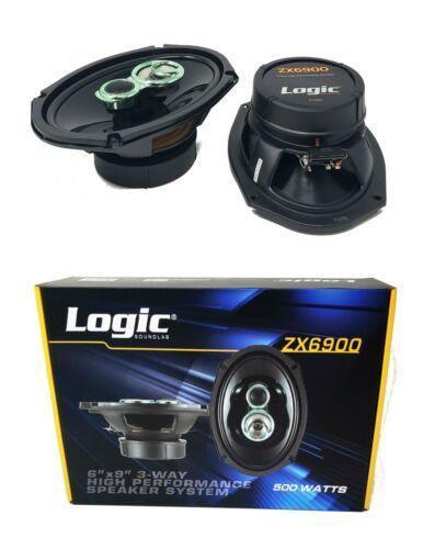 "6"" x 9"" 500W 3 way Coaxial Speaker tweeter system 4 ohm Car Audio ZX6900"