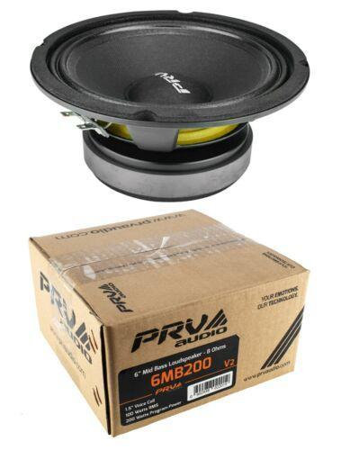 "6"" Full Range Mid Bass Loud Speaker 200W 8 Ohm PRV 6MB200V2"