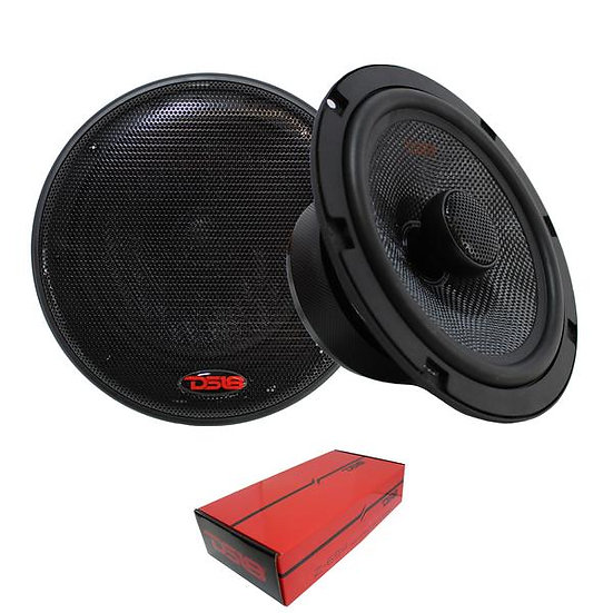 "2x 6.5"" Car Door Coaxial Neo Speaker 4 Ohms 360W DS18 Elite Z-654"