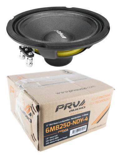 "PRV Audio 6MB250-NDY-4 6"" Neo Mid Bass Range Loud Speaker 4 Ohm 250 Watts"