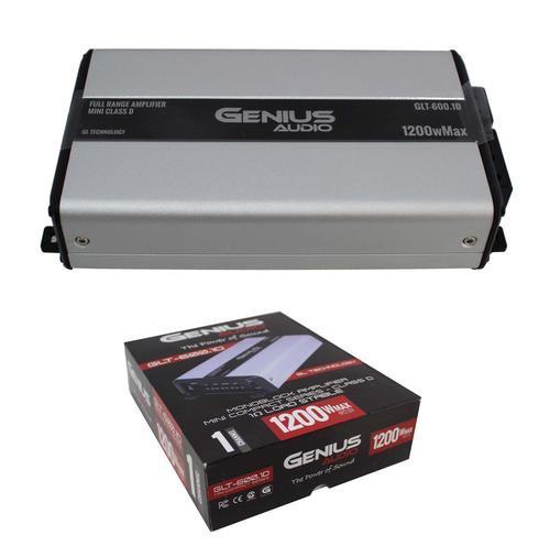Monoblock 1 Ohm Stable 1200W Class D Compact Mini Amplifier Genius Audio GLT-600