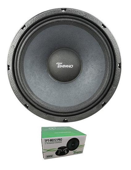 "Timpano 12"" 800W 8 Ohm Pro Audio Mid Range Loudspeaker MD12PRO"