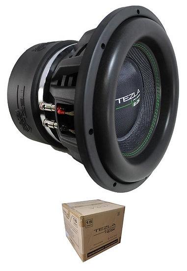 """Tezla Audio 15"""" 2.0K Series 4000W Dual 1 Ohm Subwoofer TZV1-15D12.0K"""