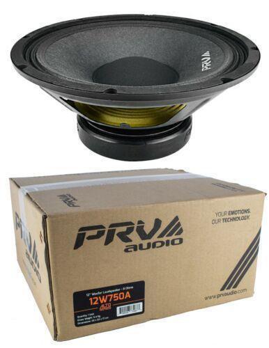 """1x 12"""" PRV Audio 12W750A Pro Audio Woofer Loud Speaker 8 Ohm 750 Watts Car Audio"""