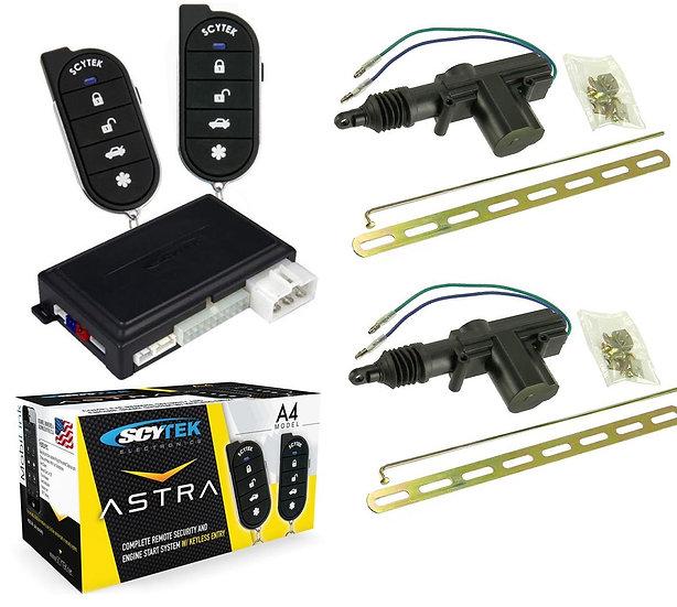 Car Alarm Security 2 Door Locks, Keyless Entry 1-Way Fob Remote Start Scytek A4