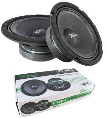 "2x 6"" Mid Range Loud Speakers Pro Audio 280W 4 Ohm Timpano TPT-M6-4"