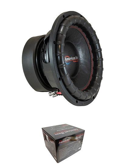 "American Bass 12"" Dual 4 Ohm Voice Coil 2400 Watt Subwoofer ELITE 1244"
