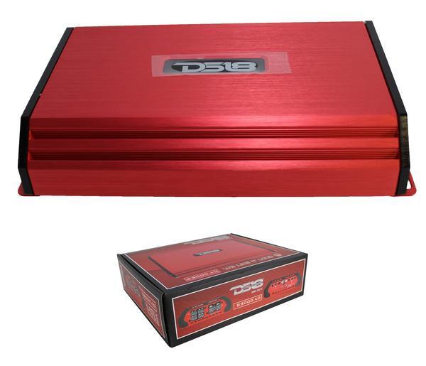 3000 Watt 4 Channel Red DS18 Full Range Class D Amplifier Pro Car Audio S3000.4D