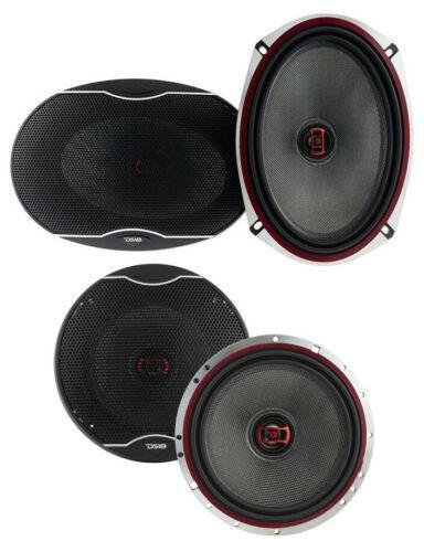 "DS18 EXL-SQ 6x9"" + 5.25"" Car Audio Door Speakers Combo 1800 Watts Coaxial"