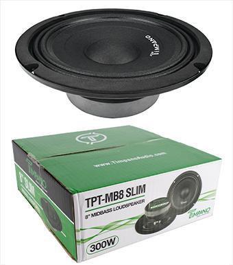 "Timpano TPT-MB8 Slim 8"" 4 Ohm 300W Mid Bass Full Range Loudspeaker Single"