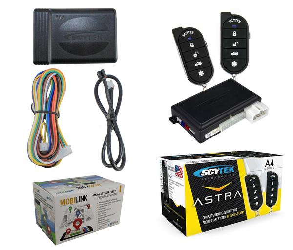 Car Security System Remote Engine Start A4 + G3 Mobilink GPS Tracker w/ App