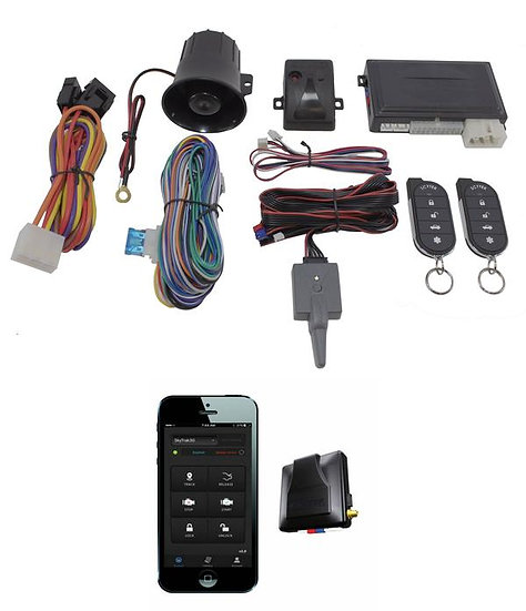 2 Way Car Alarm Anti Theft Security System G5 + G3 GPS Tracking Mobilink Scytek