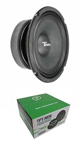 "Full Range Mid Bass Loud Speaker 6"" 8 Ohm 300 Watts Peak TPT-MD6"