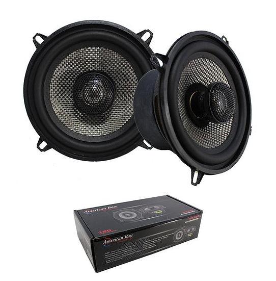 "Pair of 5.25"" 2 Way Coaxial Speaker w/ Neodymium Swivel Tweeter 120W 4 Ohm SQ 5."