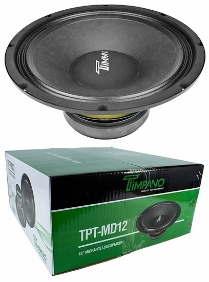 "1x Timpano TPT-MD12 12"" Mid Range Pro Audio Loud speaker 750 Watts 8 ohm"