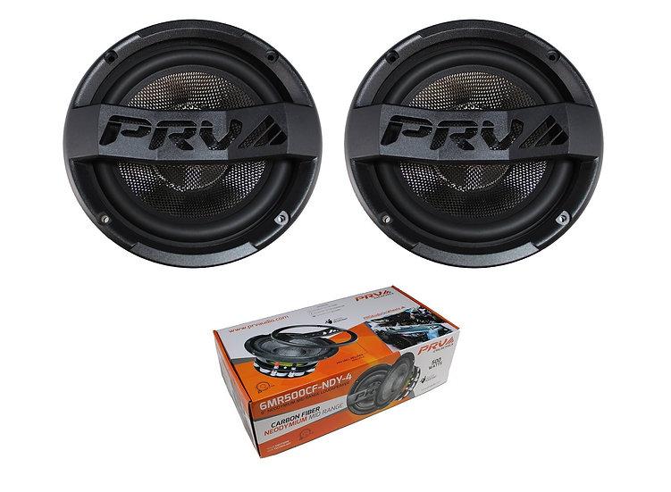 """Pair of 6"""" 500W Neodymium Mid Range Water Resistant Loudspeakers 6MR500CF-NDY-4"""