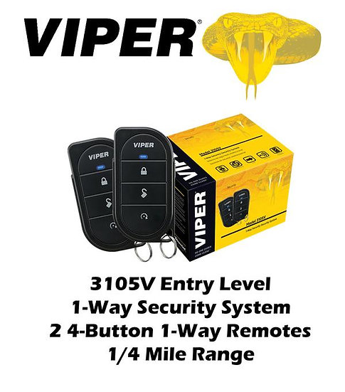 Viper 350 PLUS Entry Level 1-Way Security System 2 Remotes Control Center 3105V