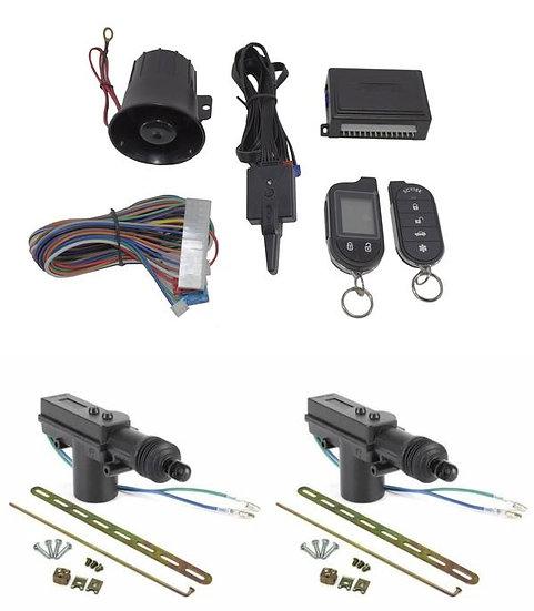 2 Way Car Alarm Security System w/ 2 Door locks Keyless Entry ScyTek Galaxy G777