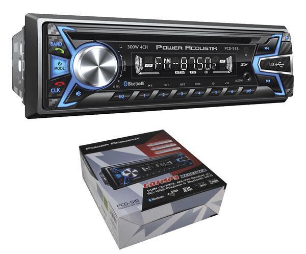 PCD-51B Car Radio In-Dash CD/MP3 AM/FM Receiver w/ Bluetooth V2.0 Single Din