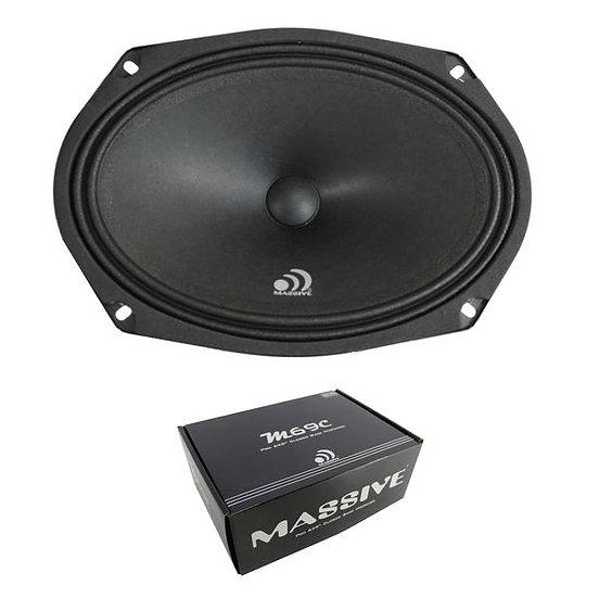 "Massive Audio M69C 8 Ohm 240W 6x9"" Loud Midrange Car Audio Speaker Sealed Back"