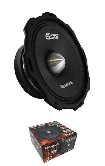 """Genius Audio GPRO-M078 8"""" Slim 4 Ohm 400W Midrage Car Audio Speaker"""