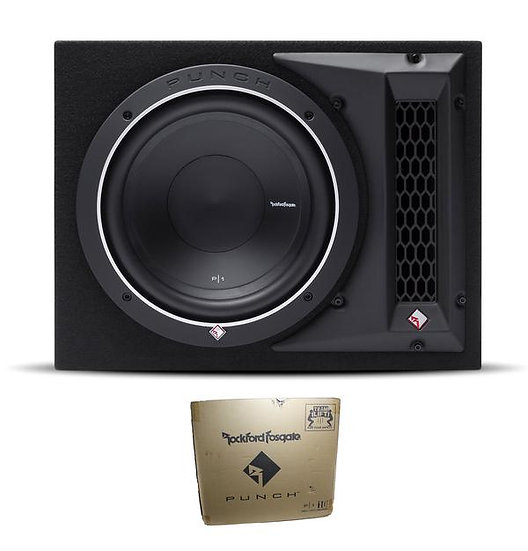 "Rockford Fosgate Punch Single P1 10"" 500W 4 Ohm Loaded Woofer Enclosure P1-1X10"