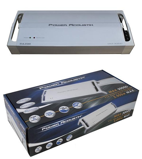 Power Acoustik MA4-3000D 3000W 4 Channel Class D Marine Amplifier