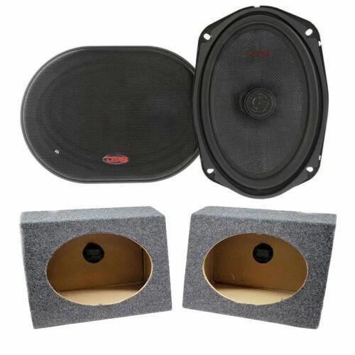"2x DS18 6 x 9"" Pro Car Audio Speakers 480W Coaxial 6x9 Speaker Box Enclosures"