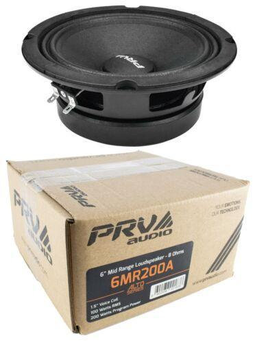 "6"" PRV Audio 6MR200A Mid Range Loud Speaker 8- Ohm 200W Car Audio Speaker"