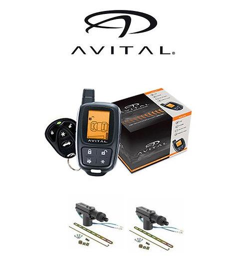Avital 2-Way LCD Security System 1500 FT Range 2 Remotes + 2 DoorLocks 3305L