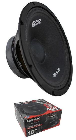 "10"" Midrange / Midbass Speaker 400 Watt 4 Ohm Genius Audio GPRO-M1410"