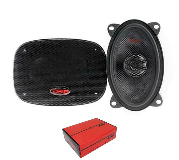 "DS18 Z-464 4x6"" 2 Way Coaxial Door Speakers 240W 4 Ohm Fiberglass Cone 1 Pair"