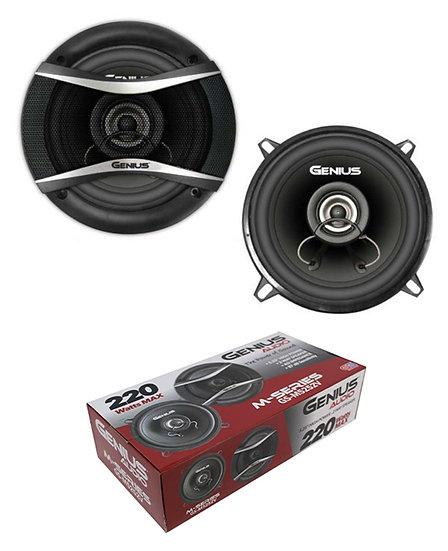 """Pair of 5.25"""" 2 Way 4 Ohm 220W Coaxil Speakers Neodymium Genius Audio GS-M5252V"""