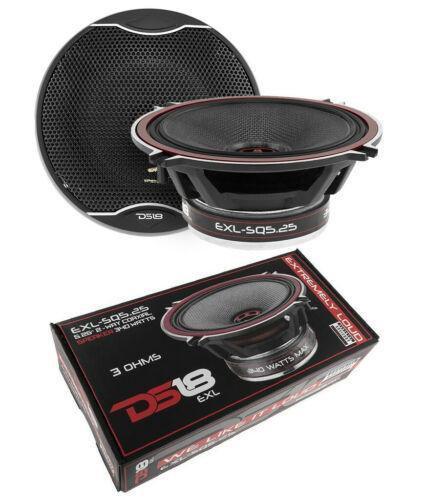 """DS18 EXL 5.25"""" 2 way Coaxial Door Speakers 680 Watt 3 Ohm Fiberglass Cone 1 Pair"""