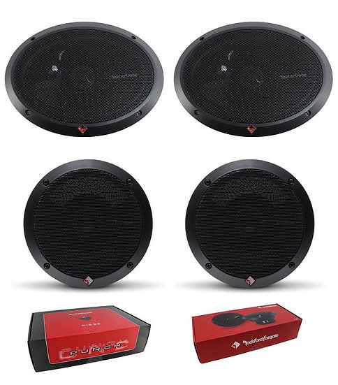 "Pair of Rockford Fosgate 6x9 300W 4 Ohm + Pair of 6.5"" 220W 4 Ohm Speakers"