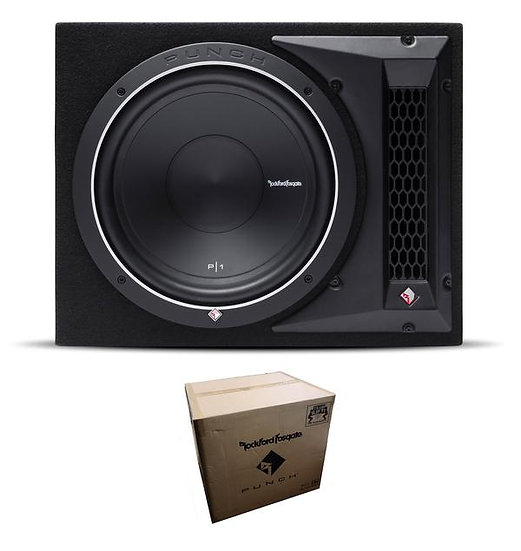 "Rockford Fosgate Punch Single P1 12"" 500W 4 Ohm Loaded Woofer Enclosure P1-1X12"