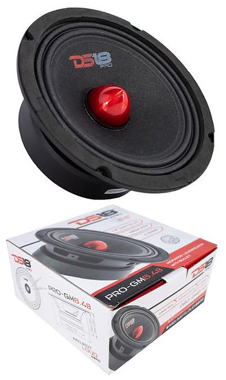 """1x 6.5"""" DS18 Mid Range Red Bullet Loud Speaker 480 Watts 4 Ohms PRO-GM6.4B"""