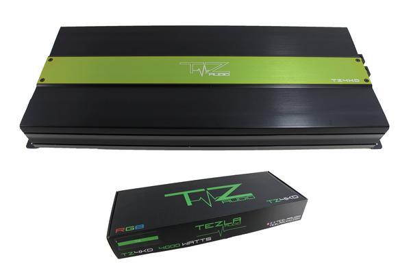 Tezla Audio 4000 Watts @ 1 Ohm Amplifier RGB Lights built in TZ4KD