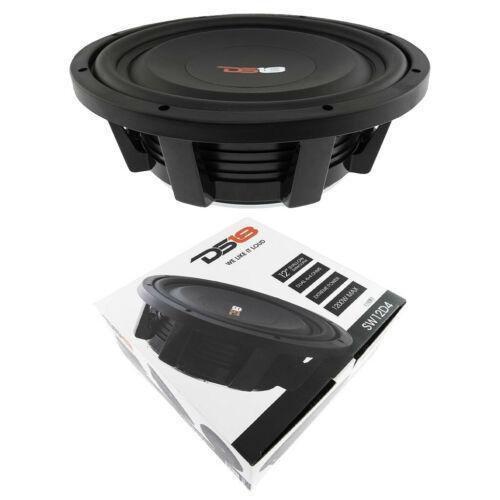 "12"" Shallow Mount Subwoofer 1200W Dual 4 Ohm Pro Audio Bass Speaker DS18 SW12D4"