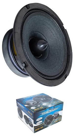 "MID-65 Full Range 6.5"" Speaker w/ Grille 300W 4 Ohm Pro Car Audio"