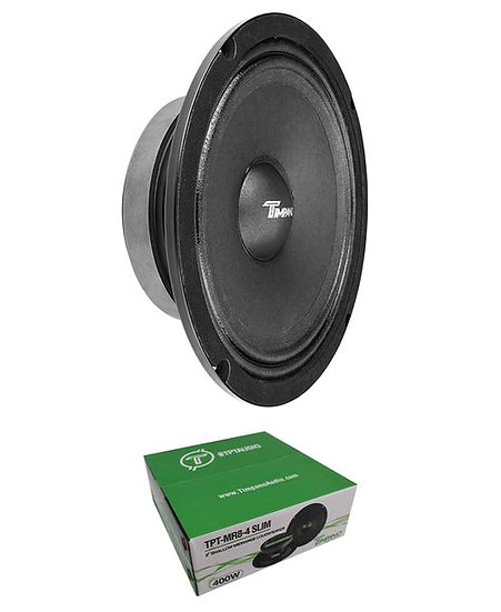 "Timpano MR8-4 Slim 8"" Mid Range 4 Ohm Speaker Car Audio 400W"