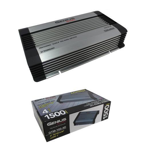 Genius Audio GTM-1500.1D 3000W Subwoofer Amplifier 1 Ohm Monoblock Class D