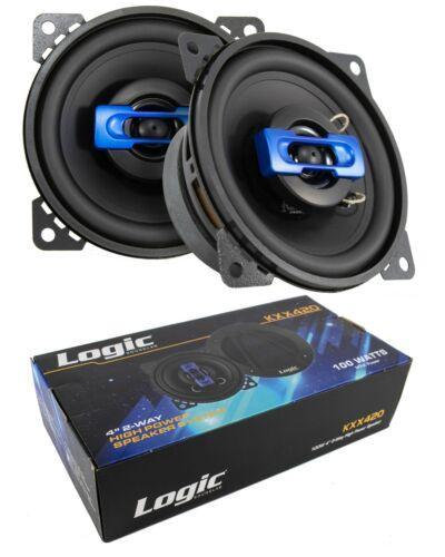 "2x 4"" 2 Way Coaxial High Power Speakers 200 Watts 4 Ohm Car Audio Pro Speaker"