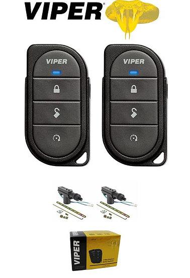 Viper 1-Way Keyless Entry System 2 4-Button Remotes + 2 Door Locks 412V