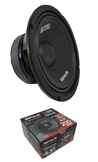 """Genius Audio GPRO-M1465 6.5"""" 200W Midrange Midbass 4 Ohms Car Audio Speaker"""