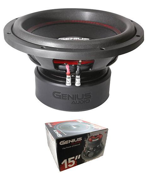 """Genius Audio Nitro Series N9-15D4 15"""" 2000W Dual 4-Ohm Subwoofer"""