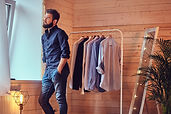 A man fit on fashionable shirts..jpg