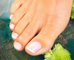 Pink & White Pedicure
