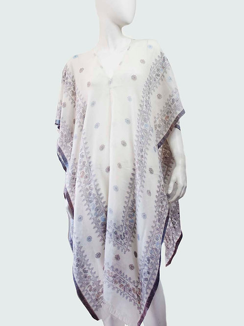SHEER COTTON SILK HANDWOVEN COVER UP