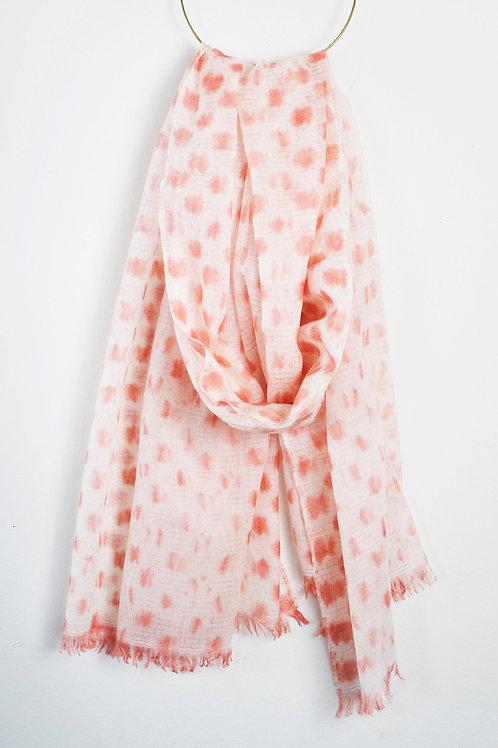 CHETAH DUSTY ROSE : SHIBORI 100% CASHMERE